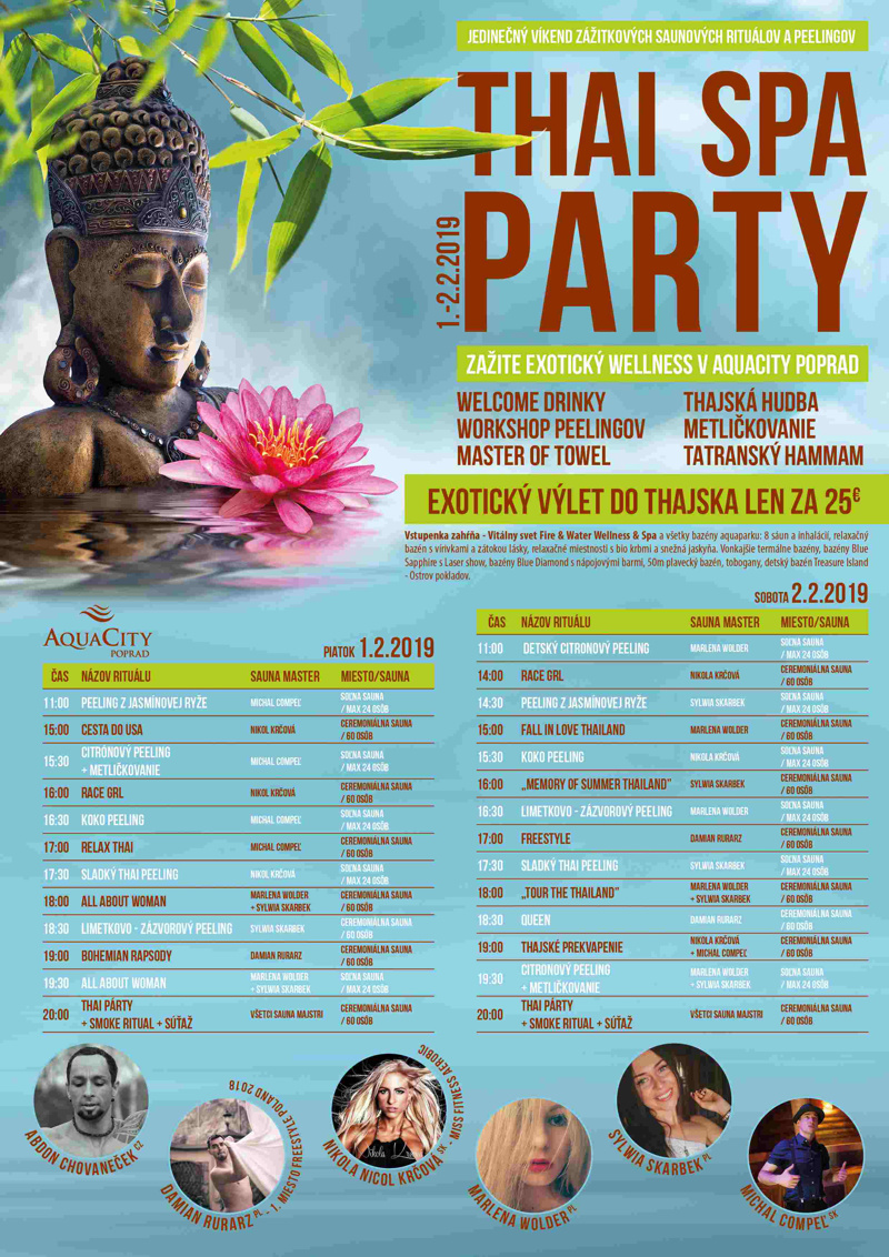 poprad aquacity thaispa party v